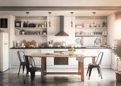 La estética Brooklyn rescata los espacios despejados y luminosos con objetos y muebles similares a los de las fábricas o talleres - Leroy Merlin