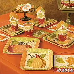 Fall Patchwork Party Supplies