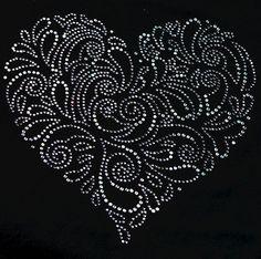 Valentine's Day Paisley Heart by SkullsBonesTattoos