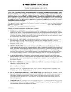 10 Best Work For Hire Agreement Template Images Work For Hire
