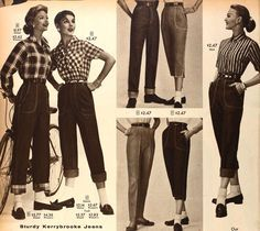 Vintage Women's Dungarees from a 1952 Sears catalog | 1950s ...