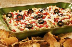 Layered Hot Artichoke & Feta Dip - Joy of Kosher