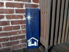 Pintado a mano escena de Natividad en plataforma por TheScarletOak