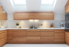 minimalist oak kitchen - Google Search