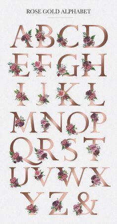 Letter M Discover Watercolor Floral Alphabet Floral Letters, Monogram Letters, Gold Letters, Monogram Fonts, Paper Flowers, Art Flowers, Floral Flowers, Watercolor Flowers, Flower Art