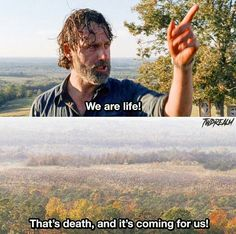 Yeah that's right but still you were very wrong for not killing that asshole Negan because he killed my beautiful angels Glenn and Abe and more and he's still alive and they are not here anymore and that's pissing me the most i want him death this season The Walking Dead 2, Walking Dead Funny, Walking Dead Wallpaper, Z Nation, Are You Not Entertained, I Want Him, Dead Inside, Stuff And Thangs, Andrew Lincoln