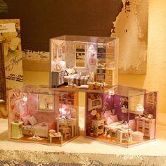 DIY Miniature Dollhouse kit Gift Idea choose 1 out of 3 by KoolKro