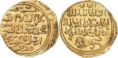 Arabian Empires/Bahri Mamluks Sultan Baybars I 1260-77AD AV Dinar ND Alexandria Mint