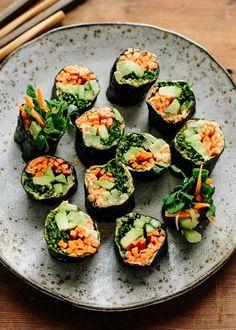 Recipe: Veggie Nori Rolls — Lunch Recipes from The Kitchn.  UPDATE: not bad