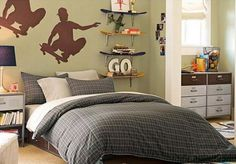 Kids Bedroom Ideas with Skateboard Shelves Picture