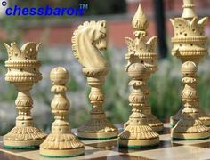 LARGE Lotus Carved Weighted Bud Rosewood Chess Set #chessbaron #chess sets