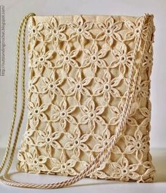 Tecendo Artes em Crochet: Bolsa linda!