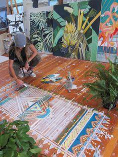 SAM MALPASS studio tour. @badwaycreative mural work