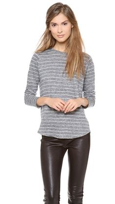 Vince Striped Long Sleeve Tee Street Style Edgy 34ccd7ded