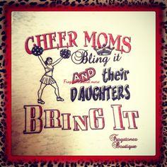 Cheer moms bling it