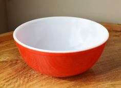 Vintage 1940s Pyrex Primary complete set of nesting or mixing bowls ...