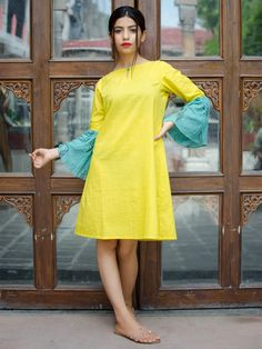 Dresses for Women : Buy Designer & Party Wear Dresses Online - The Loom New Kurti Designs, Kurti Designs Party Wear, Blouse Designs, Ethnic Outfits, Fashion Outfits, Women's Fashion, Designer Kurtis Online, Designer Party Wear Dresses, Western Dresses