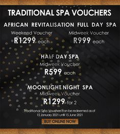 Mangwanani's #blackfriday2020 deals are live! Buy your vouchers #online and you can view all the offers at the link below. Please note that the voucher numbers are capped. Buy early before your favorites run out! Spa Weekend, Spa Day, Boutique Spa, Watch This Space, Black Friday, Numbers, How To Apply, Note