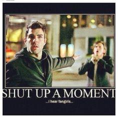 Shut up a moment I hear fangirls ! - Sylar   - Fangirl - Heroes