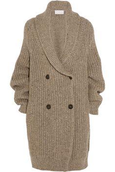 Chloé Oversized Ribbed Wool-Blend Cardigan, $2,750; net-a-porter.com     - ELLE.com
