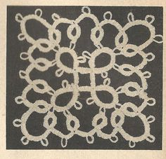 Tatting PATTERN 0367 Lovely square insert use for by BlondiesSpot