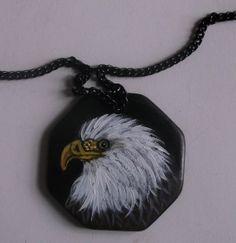 American Bald Eagle chain Necklace Hand by daniellesoriginals, $19.00