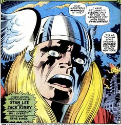 Thor by Jack Kirby Comic Book Pages, Comic Books Art, Book Art, Frank Miller Comics, Jack Kirby Art, Bruce Timm, Marvel Heroes, Marvel Comics, American Comics