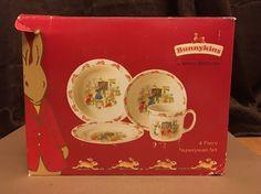 Royal Doulton Bunnykins 4 Piece Set Fine Bone China Vintage in Original Box | eBay