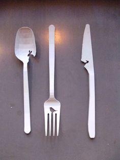 Cute cutlery from Dutch Design Week (2011? - unsure of who the designer is)