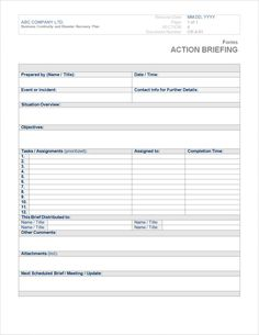 Business Continuity Plan Template  A Thing Or Two To Consider
