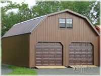 Pole Buildings Projects Gambrel Attic Pole Barn