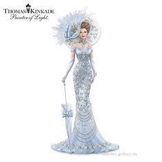 Thomas Kinkade ~  Elegant Lady Figurine Adorned With Swarovski Crystals ~ Gallery.ru / Фото #4 - Томас Кинкейд. Коллекция фарфоровых фигурок. - ann-net