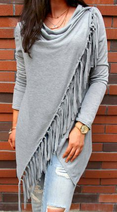 34 Lovable Single Button Tassel Asymmetrical Hem Shawl for You Fall Outfits, Cute Outfits, Fashion Outfits, Womens Fashion, Black And White Coat, Paige Jeans, Autumn Winter Fashion, Fall Fashion, Boho Fashion Over 40