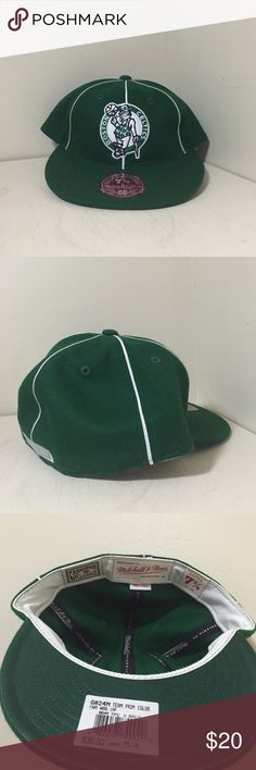 on sale 49b63 870b7 Shop Men s Mitchell   Ness size OS Hats at a discounted price at Poshmark.  Description  NBA Mitchell Ness Boston Celtics Team Prim Wool Fitted Hat Cap  7 ...