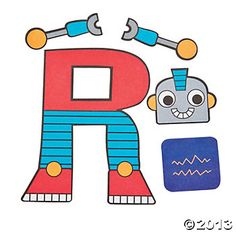 R Is For Robots Craft Kit - Oriental Trading