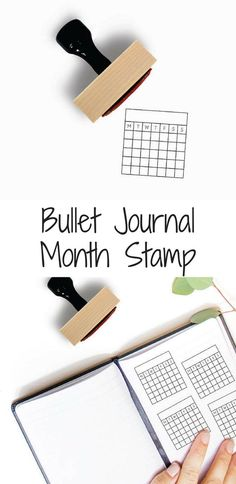 Perpetual calendar or Habit Tracker stamp for your bullet journal or planner. Minimalistic and just what you were looking for so you don't have to draw those pesky grids anymore! #bulletjournal #stamp #bulletjournalstamp #bulletjournalaccessories #habittrackere #calendar #month #affiliate