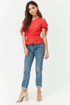Product Name:Double Dot Crepe Top, Category:top_blouses, Price:15.9