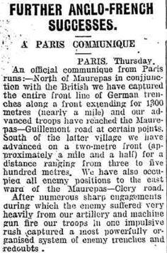 Huon Times 18 August 1916. ––News From The Front (@FrontlineWW1) | Twitter