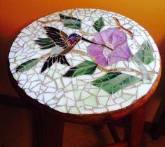 Mosaic Patio Table, Mosaic Tray, Mosaic Glass, Glass Art, Stained Glass Supplies, Stained Glass Designs, Stained Glass Patterns, Mosaic Birds, Mosaic Flowers