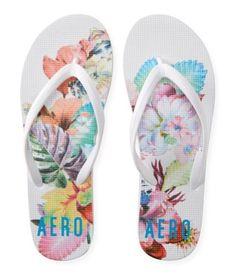ffeb28ef8bcc41 Aeropostale Womens Tropical Flowers Flip Flop Sandals 102 9
