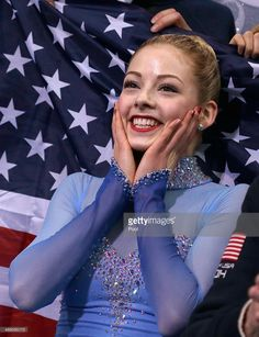 Gracie Gold of the United States waits for her score in the Team Ladies Free Skating during day one of the Sochi 2014 Winter Olympics at Iceberg Skating Palace onon February 9, 2014 in Sochi, Russia.
