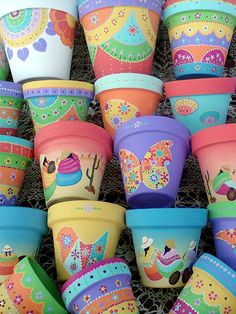 Related image Informations About Related image Pin You can easily us Flower Pot Crafts, Clay Pot Crafts, Dyi Crafts, Painted Plant Pots, Painted Flower Pots, Pots D'argile, Clay Pots, Pebble Painting, Pottery Painting