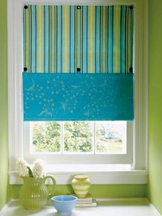 DIY Two-Toned Button Window Shadewomansday