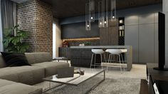 Modern Apartment in Kiev by Iqosa | Design +