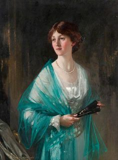 Lady with a Green Scarf  by George Henry