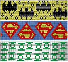 Super heroes knitting pattern