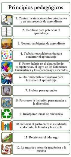 12 #PrincipiosPedagógicos para Mejorar los Aprendizajes | #Infografía #Educación