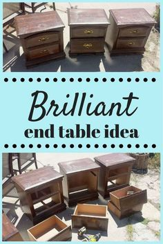 Transforming 3 Ruined End Tables Into Something Special!!