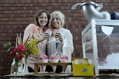 Meg Makins and Linds Bishop are behind Sweet Ice Snow Cones - an all-natural, travelling snow cone stand that uses made-from-scratch syrups. Follow along at sweeticesnowcones.ca or on Twitter @sweet_ice_cones. Barry Gray/The Hamilton Spectator.