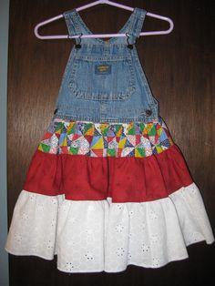 Osh Kosh bibs with attached Twirlly Skirt
